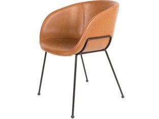 Krzesło skórzane Feston 55×56,5×77 cm Zuiver