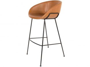 Hoker brązowy Feston 53,5×54,5×98,5 cm Zuiver