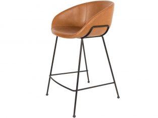 Hoker brązowy Feston 53,5×54,5×88,5 cm Zuiver