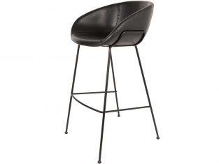 Hoker czarny Feston 53,5×54,5×98,5 cm Zuiver