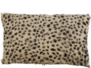 Poduszka futrzana Goat Leopard 30×50 cm