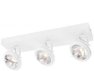 Lampa sufitowa potrójna biała Visio