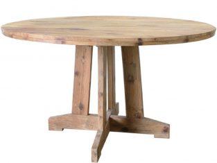 Stół okrągły z drewna tekowego Teak 140×75 cm