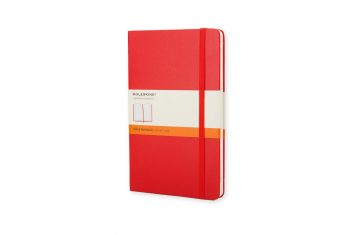 Moleskine Classic Red L HD notes linia