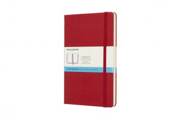 Moleskine Classic Red L HD notes kropki