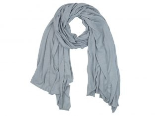 MINOU Cashmere- Light Grey szal z kaszmiru 220x100cm dzianina
