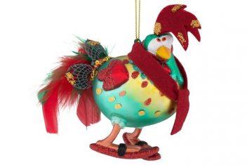 Ozdoba BBHome Rooster Enrique 13x13x7cm