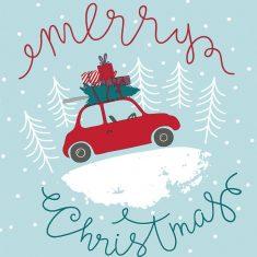 Serwetki świąteczne Christmas Car 33x33cm