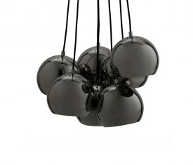 Lampa wisząca Frandsen Ball Multi Black Gloss