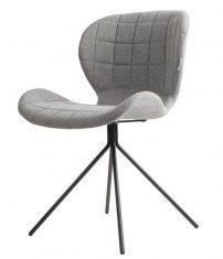 Krzesło szare Office Grey 51x56x80cm