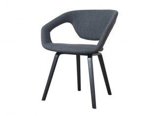Krzesło Shellback Black D.Grey 64x57x79cm Zuiver