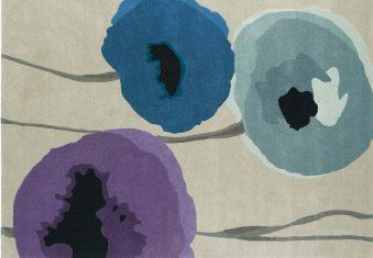 Dywan Sanderson Poppies Indigo Purple 170x240cm