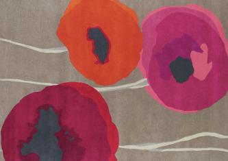 Dywan Sanderson Poppies Red/Orange 140x200cm