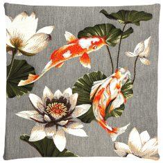 Poduszka żakardowa Koi & Lotus Grey I 45x45cm