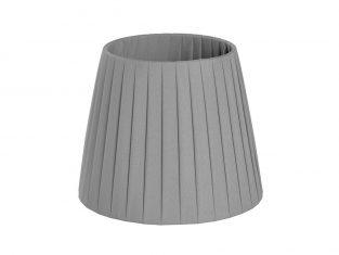 X Abażur Plisse Grey 12x17x14cm