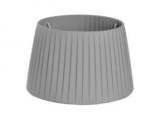 X Abażur Plisse Grey 21x26x16cm