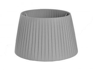 X Abażur Plisse Grey 23x30x18cm