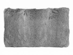 Poduszka futrzana Rabbit Grey 30x50cm