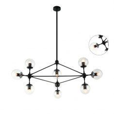 Lampa wisząca Milano Black 90x150cm