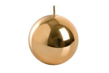 Świeca okrągła złota BBHome Shine New Gold Ball 9cm