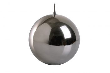 Świeca okrągła srebrna BBHome Shine New Silver Ball 9cm