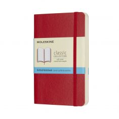 Moleskine Classic Red S SC notes kropki