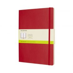 Moleskine Classic Red XL SC notes gładki