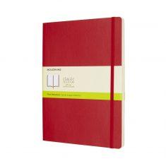Moleskine Classic Red XL SC notes gładki