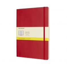 Moleskine Classic Red XL SC notes kratka