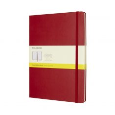 Moleskine Classic Red XL HD notes kratka