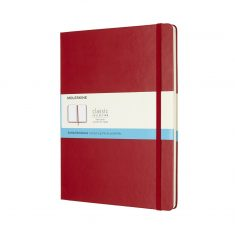 Moleskine Classic Red XL HD notes kropki