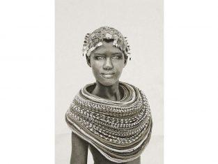 Pled żakardowy FS Home Collections Samburu Girl Black&White 140x210cm