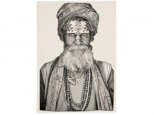 Pled żakardowy FS Home Collections Bandu Baba Black&White 140x210cm