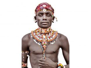Pled dekoracyjny Samburu Man White FS Home Collections