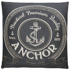 Poduszka FS Home Collections Nautical Anchor Grey 45x45cm