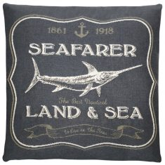 Poduszka żakardowa FS Home Collections Nautical Seafarer Grey 45x45cm