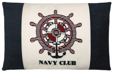Poduszka FS Home Collections Navy Club White 50x70cm