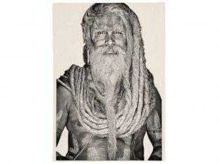 Pled żakardowy Gangadas Baba Black&White FS Home Collections