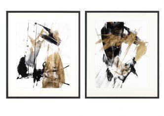 Obraz reprodukcja Glam Black I & II J. Golberger 37x57cm