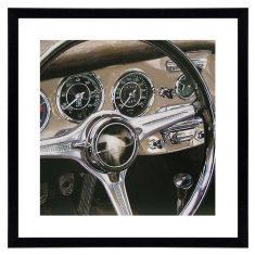 Fotografia Porsche Dashboard 60x60cm