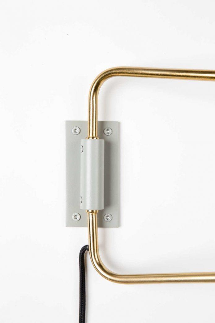 Skandynawski Żyrandole stare złoto przedpokoju design