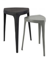Zestaw stolików Gati Black & Grey 46×52,5cm i 25x45cm