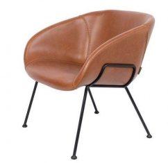Fotel Feston Lounge Brown 71x66x72cm Zuiver