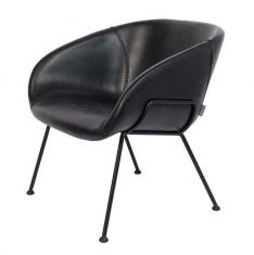 Fotel Feston Lounge Black 71x66x72cm Zuiver