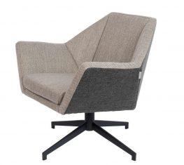 Fotel obrotowy Jessie Grey 76x68x76cm