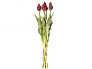 Bukiet sztucznych tulipanów BBhome Tulip Bunch Red 44cm