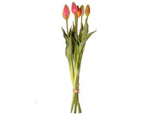 Bukiet sztucznych tulipanów BBHome Tulip Bunch Pink/Yellow 44cm
