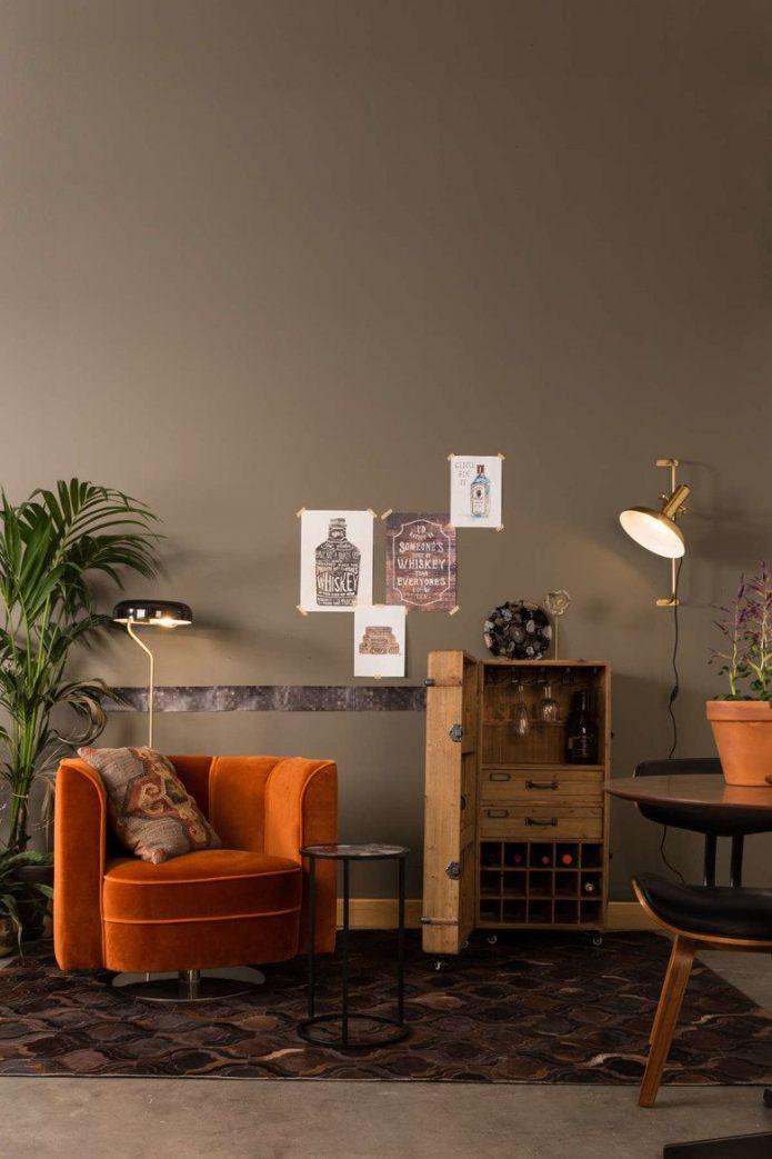 Deasinerskie narzuty metal pokój dzienny design