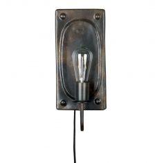 X Kinkiet Adrien Black Antique 7,5x16x38cm