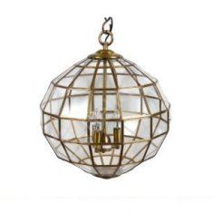 Lampa wisząca Halon Antique Brass 46x46x52cm